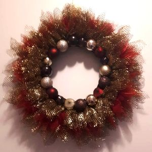 Handmade ornament wreath